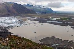 Skaftafellsjokull, Skaftafell国家公园,南冰岛 库存照片