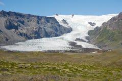 Skaftafellsjokull glacier moraine aerial view, Skaftafell National Park, Iceland Royalty Free Stock Photo