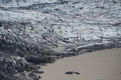 Skaftafellsjokull glacier moraine, Iceland. Skaftafellsjokull glacier moraine, Skaftafell National Park, Iceland stock images