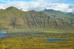 Skaftafellsjokull glacier moraine Royalty Free Stock Photos