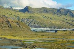 Skaftafellsjokull glacier moraine Royalty Free Stock Images