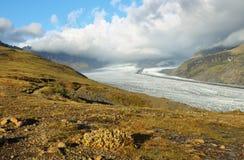 Skaftafellsjokull glacier moraine Stock Photos