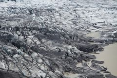 Skaftafellsjokull glacier, Skaftafell NP, Iceland. Skaftafellsjokull glacier moraine, Skaftafell National Park, Iceland royalty free stock images