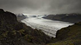 Skaftafellsjokull glacier tongue in Skaftafell, Iceland. stock photos