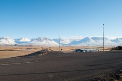 Skagafjordur在北部冰岛 库存照片