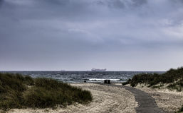 Skagen beach in the northern part of Denmark Royalty Free Stock Image
