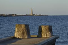 Skagen (Denmark) - Lighthouse Grey Tower in the evening Royalty Free Stock Photo