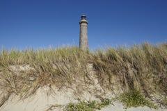 Skagen (Denmark) - Lighthouse Grey Tower. The lighthouse Grenen (called Grey Tower) near Skagen (Denmark, North Jutland) at the junction of Skagerrak (North Sea Stock Photography