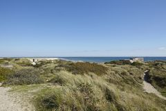 Skagen (Denmark) - Second World War Bunkers at the coast Stock Images