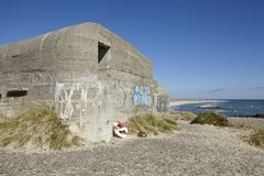 Skagen (Denmark) - Second World War Bunkers at the coast Royalty Free Stock Image