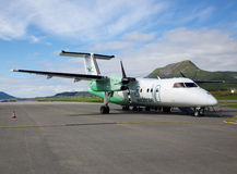 Skagen flygplats, Norge Arkivbilder
