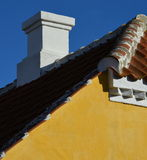 Skagen gable and rooftop chimney Royalty Free Stock Image