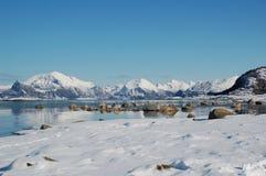 Skagen im Schnee Lizenzfreie Stockfotografie