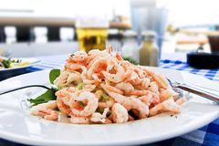 Skagen Swedish shrimp salad Royalty Free Stock Image