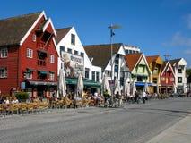 Skagenkaien στο Stavanger, Νορβηγία Στοκ φωτογραφία με δικαίωμα ελεύθερης χρήσης