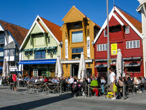 Skagenkaien w Stavanger, Norwegia fotografia stock