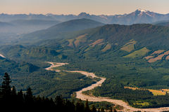 Skagit River Valley Lizenzfreies Stockbild