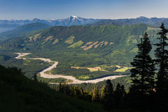 Skagit River Valley Lizenzfreies Stockfoto