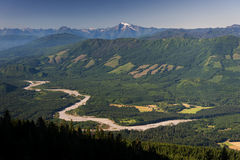 Skagit River Valley Stock Image