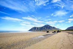 Skagsanden beach on Lofoten Royalty Free Stock Photo