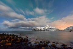 Skagsanden Beach, Lofoten Islands, Norway royalty free stock images