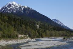 skagway的河 库存照片