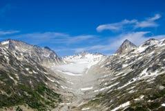 skagway阿拉斯加的冰川 免版税图库摄影
