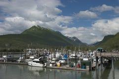 Skagway, Alaska, all'interno del passaggio, nord-ovest pacifico Fotografia Stock Libera da Diritti