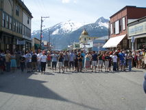 Skagway Alaska Egg Toss Stock Photo