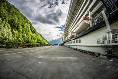 Skagway alaska in june, usa northern town near canada royalty free stock photos
