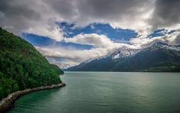 Skagway alaska in june, usa northern town near canada royalty free stock photography
