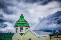 Skagway alaska in june, usa northern town near canada stock photography