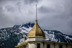 Skagway alaska in june, usa northern town near canada royalty free stock images