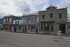 Skagway Alaska main street Stock Photo