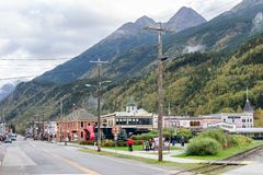 Sites and landscape views in Skagway Alaska stock image
