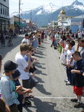 Skagway Alaska 4th of July Egg Toss Royalty Free Stock Photography