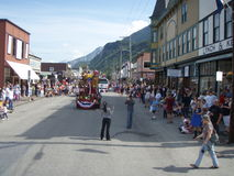 Skagway Alaska 4th of July Stock Image