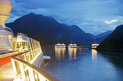 Skagway at Dawn, Alaska Royalty Free Stock Photo