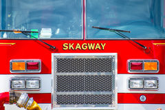 Skagway Firetruck przód Zdjęcie Royalty Free