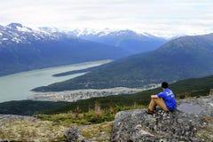 Skagway från höjdpunkt Royaltyfri Bild