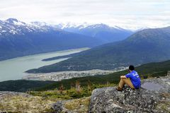 Skagway from High Royalty Free Stock Image