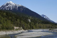 Skagway River. The river in Skagway town, the place where the gold rush had started hundred years ago (Alaska Stock Photos