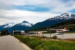 Skagwayluchthaven stock afbeelding
