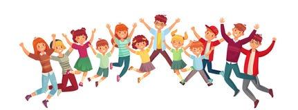 Skakać dzieciaków E ilustracji