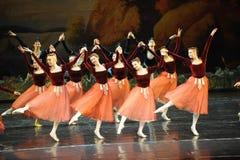 Skakahandshandledans-balett svan sjö Royaltyfri Bild