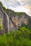Skaklya vattenfall i Balkan berg, Bulgarien Fotografering för Bildbyråer