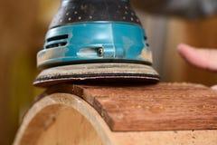 Skal för malande merbau för snickare wood för handgjord vals Royaltyfria Foton
