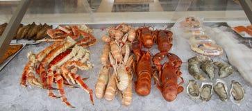 skal för scampi för krabbafiskförsäljning royaltyfri foto