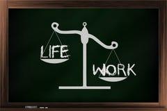 Skala av liv och arbete Arkivfoton