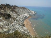 Skala av turkerna Agrigento Italien Arkivbild